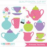 FREE Clipart - Princess Tea Party / Tea Set (Polka Dots)
