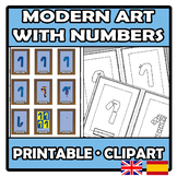 Printable - Clipart - Modern art with numbers