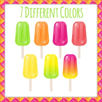 Popsicles - Iced Lollies or Paddle Pops Being Eaten Commercial Use Clip Art