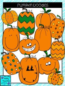 Clipart - Pumpkin Doodles