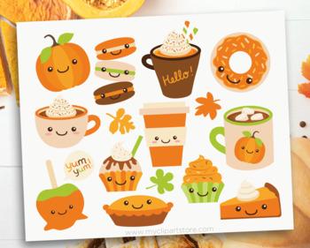 Clipart - Pumpkin Spice / Coffee and Sweet Treats (Fall / Autumn)