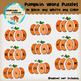Clipart: Pumpkin Word Puzzle! reading tool - fall - pumpkin