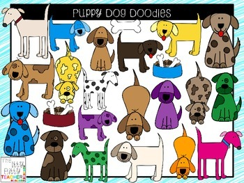 Clipart - Puppy Dog Doodles