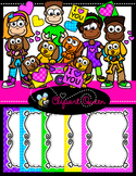Clipart: Kids Love Puppies