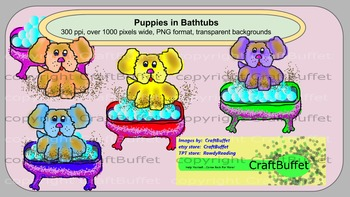 Clipart, Puppy in Bathtub, dog, tub, bath, in, dog in tub, puppy in bathtub, dog
