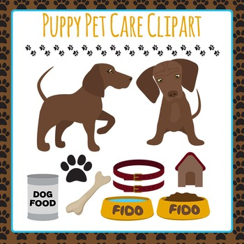 Dog Pet Care Clip Art Pack for Commercial Use