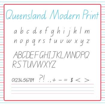 Handwriting Queensland Modern Print Mega Clip Art Pack for Commercial Use