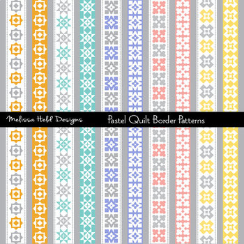 Clipart: Quilt Border Patterns Clip Art