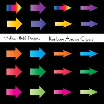 Clipart: Rainbow Arrows Clip Art