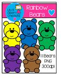 Clipart - Rainbow Bears