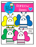 Clipart - Rainbow Bees