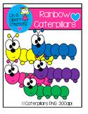 Clipart - Rainbow Caterpillars