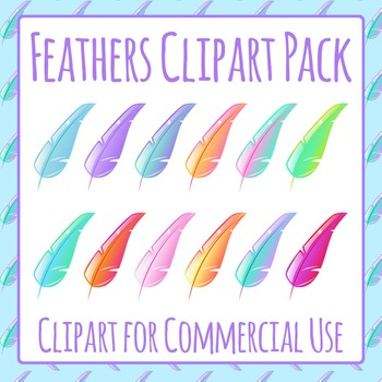 Feathers Clip Art Pack for Commercial Use