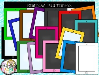 Clipart - Rainbow Ipad Tablets