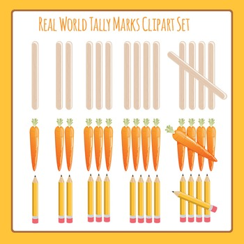 Tally Marks - Real World - Commercial Use Clip Art Set