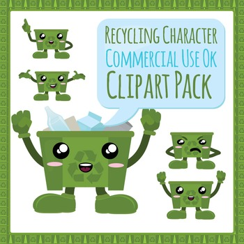 Recycling / Earth Day Character Commercial Use Pack