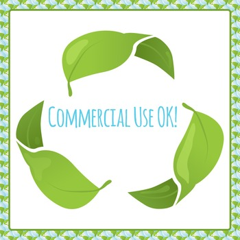 Recycling / Earth Day Commercial Use Clipart Pack