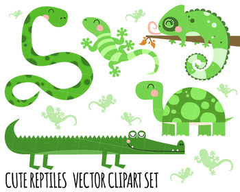 Clipart Reptiles, Tortoise Clipart, crocodile clipart, snake clipart, lizard