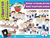 Clipart-Retour à l'école privée (garçons)/Back to private