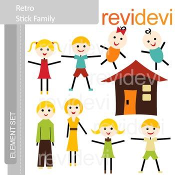 Stick family clip art