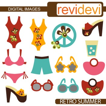 Clipart Retro Summer