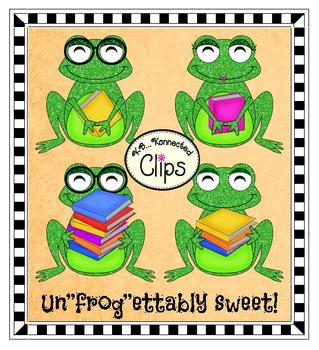 Clipart - Ribbet Readers: Reading Froggy Style!