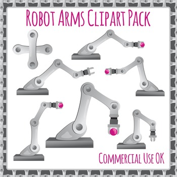 Industrial Robot Arms Commercial Use Clipart Pack