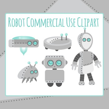 Robot Commercial Use Clip Art Pack