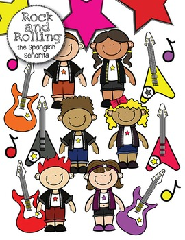 Rock & Rolling {Clip Art for Commercial Use}