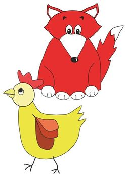 Clipart - Rosie Hen and the Fox