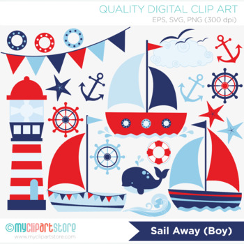 Clipart - Sail Away (Boy)