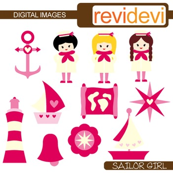 Clipart Sailor Girl - Pink