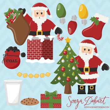 Clipart - Santa Clause and Christmas Clip Art