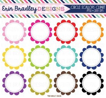 Clipart - Scalloped Circles
