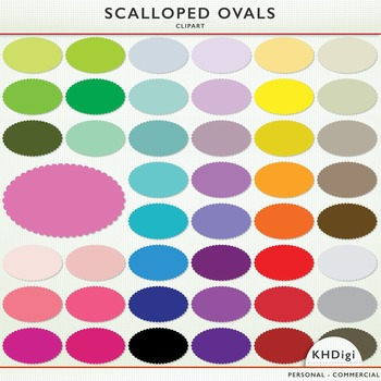 Clipart - Scalloped Ovals