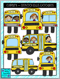 Clipart - School Bus Doodles