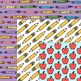 Clipart: School Days Digital Papers for Personal and Comme