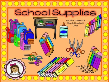 Clipart - School Supplies