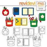 Clipart School Supplies - Books Clip art and Line art