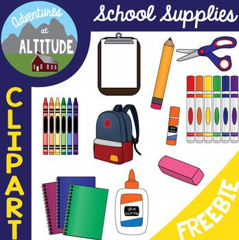 Clipart - School Supplies Freebie