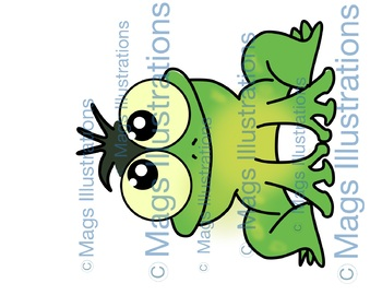 Clipart Scientist, handmade science illustrations, boy girl and frog science