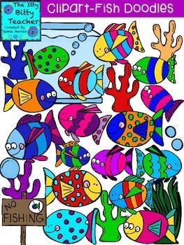 Clipart - Fish Doodles
