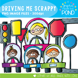 Driving Me Scrappy Clipart