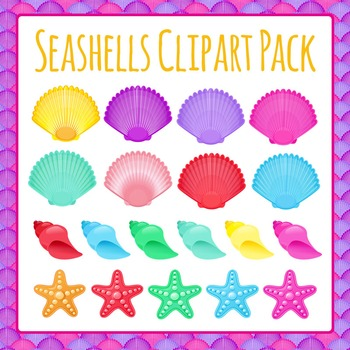 Shells or Seashells Clip Art Set for Commercial Use