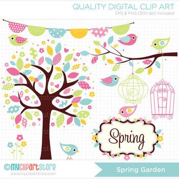 Clipart - Seasons: Spring Garden