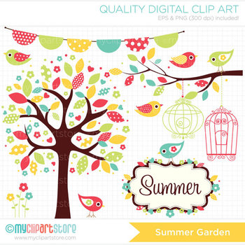 Clipart - Seasons: Summer Garden