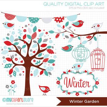 Clipart - Seasons: Winter Garden (Christmas)