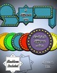 """Clip Art Set: """"Broadway Lights"""" Tags and Labels"""