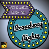 "Clip Art Set: ""Broadway Lights"" Tags and Labels"