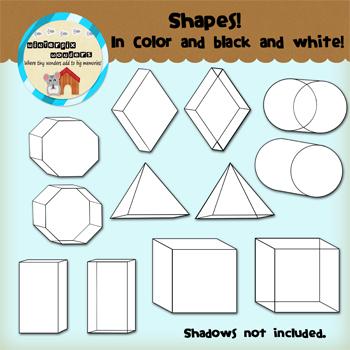 Clipart: Shapes! - 3D shapes